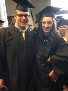 Caitlin's graduation from NKU December 2013